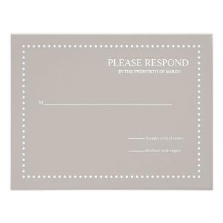 Tarjeta de la respuesta de la bodas de plata con invitación 10,8 x 13,9 cm