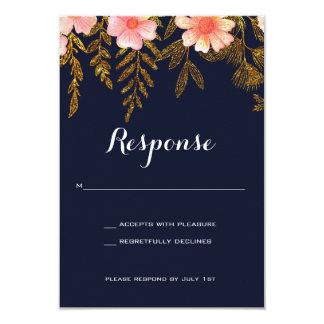 Tarjeta de la respuesta de la invitación del boda