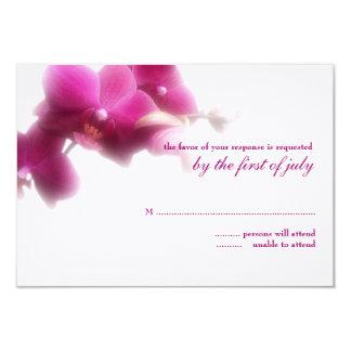 Tarjeta de la respuesta del boda