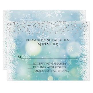 Tarjeta de la respuesta del boda del invierno de invitación 8,9 x 12,7 cm