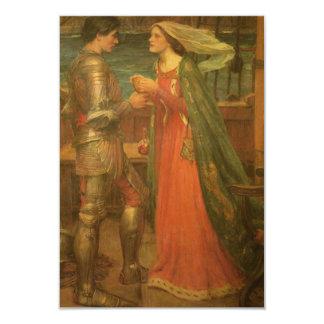 Tarjeta de la respuesta del boda, Tristan Isolda, Invitación 8,9 X 12,7 Cm