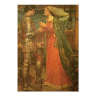 Tarjeta de la respuesta del boda, Tristan Isolda,