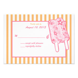 Tarjeta de la respuesta del helado de Paisley Comunicados Personales