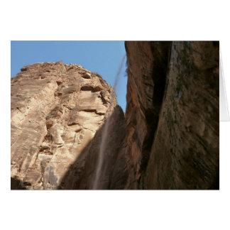 Tarjeta de la roca de Zion que llora