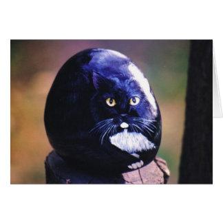 """Tarjeta de la roca del gato de """"Sasha"""""""
