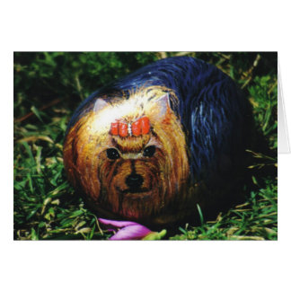 """Tarjeta de la roca del perro de """"Bubba"""""""
