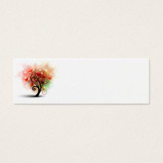 Tarjeta de la señal del árbol del corazón