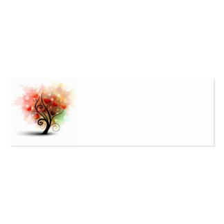 Tarjeta de la señal del árbol del corazón tarjeta personal