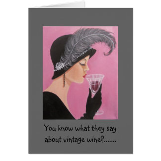 Tarjeta de la señora cumpleaños del vintage
