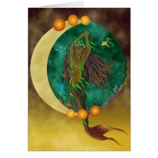 Tarjeta de la sirena de la media luna