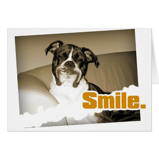 Tarjeta de la sonrisa del perrito