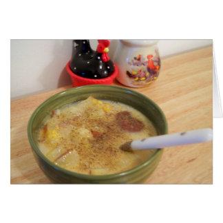 Tarjeta de la sopa