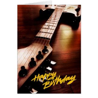 Tarjeta de la superestrella del feliz cumpleaños