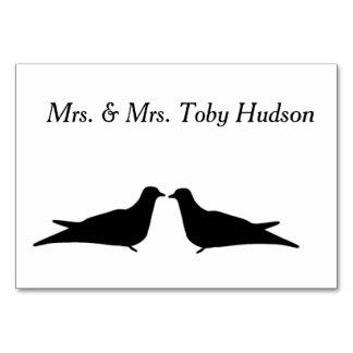 Tarjeta de la tabla de dos pájaros