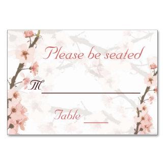 Tarjeta de la tabla de la flor de cerezo
