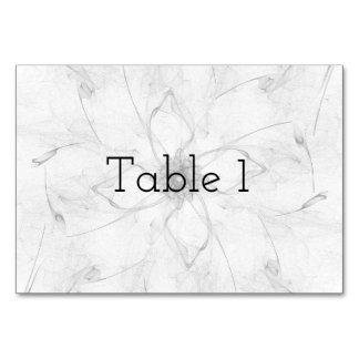 Tarjeta de la tabla de la plantilla de la flor