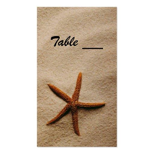 Tarjeta de la tabla de la serenidad de la playa tarjeta personal