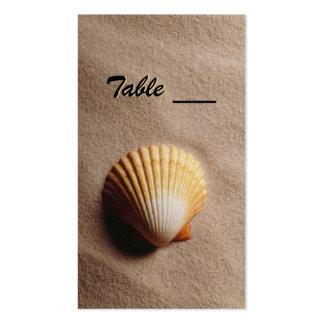 Tarjeta de la tabla de la serenidad de la playa tarjeta de visita