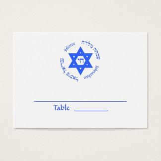 Tarjeta de la tabla de Mitzvah del palo de Mitzvah