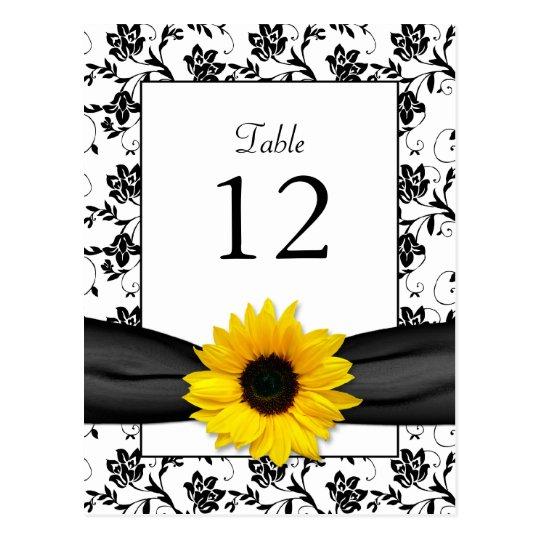 Tarjeta de la tabla del boda del damasco del