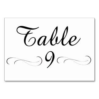 Tarjeta de la tabla del cuadro 9