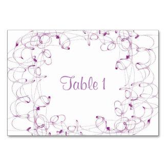 Tarjeta de la tabla del diseño del remolino