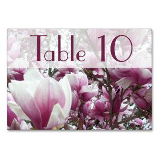 Tarjeta de la tabla - magnolia de platillo