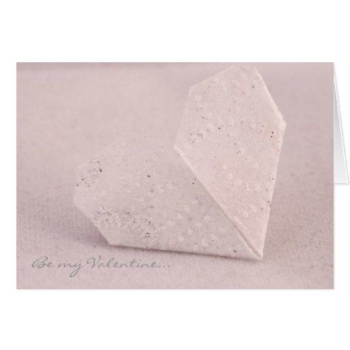 Tarjeta de la tarjeta del día de San Valentín, cor
