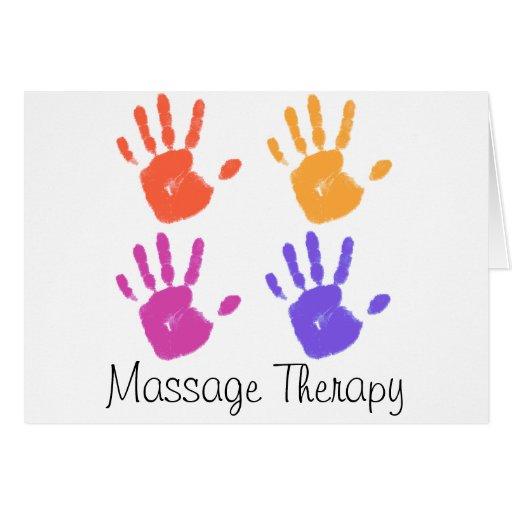 Tarjeta de la terapia del masaje