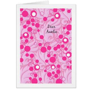 Tarjeta de la tía cumpleaños