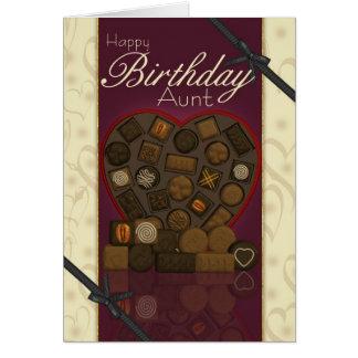 Tarjeta de la tía cumpleaños - chocolates