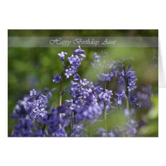 Tarjeta de la tía cumpleaños con Belces azules her