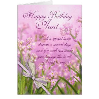 Tarjeta de la tía cumpleaños - floral femenino ros