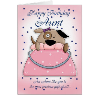 Tarjeta de la tía cumpleaños - mascota lindo del m