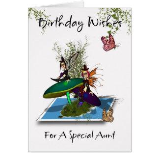 Tarjeta de la tía cumpleaños - salto gótico lindo