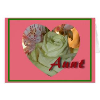 Tarjeta de la tía el día de San Valentín del