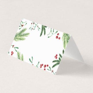 Tarjeta de la tienda de la baya del navidad,
