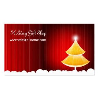 Tarjeta de la tienda de regalos del navidad tarjetas de visita