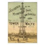 Tarjeta de la torre Eiffel