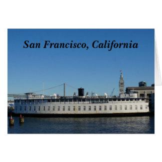 Tarjeta de la travesía de San Francisco Hornblower