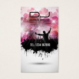 Tarjeta de la visita de DJ
