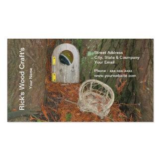 Tarjeta de la visita del arte de madera tarjeta de negocio