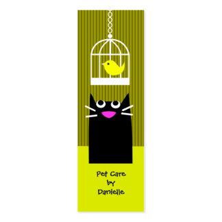 Tarjeta de la visita del canguro del mascota tarjetas de visita mini