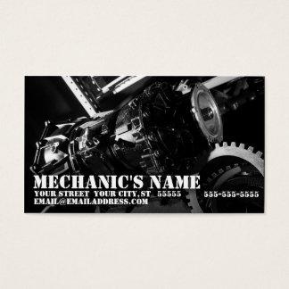 Tarjeta de la visita del mecánico con la foto de