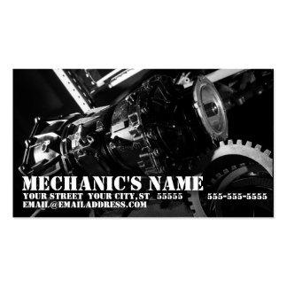 Tarjeta de la visita del mecánico con la foto de tarjetas de visita