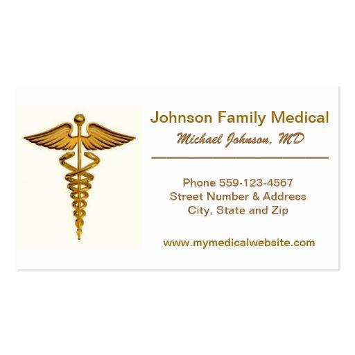 Tarjeta de la visita del médico/del médico plantilla de tarjeta de visita