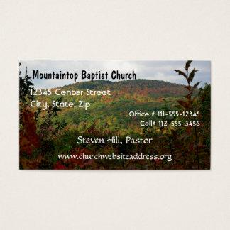 Tarjeta de la visita del pastor