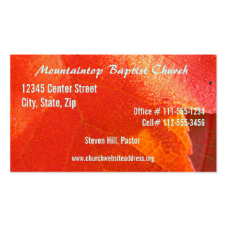 Tarjeta de la visita del pastor tarjetas de visita
