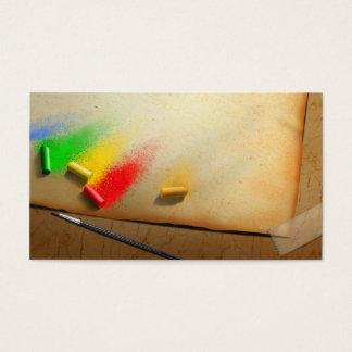Tarjeta de la visita del pintor tradicional del