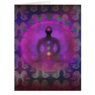 Tarjeta de la yoga de la meditación
